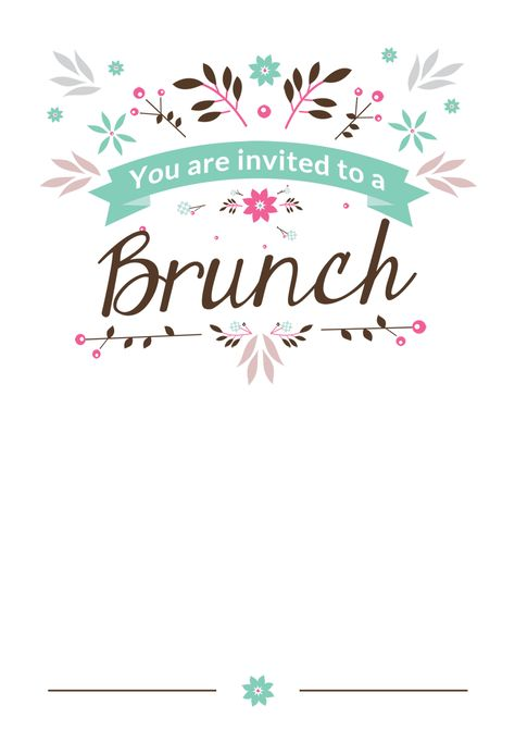 Brunch Invitation Template For Family Friends