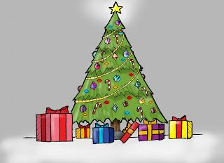 Pin By Bryan Brands On Christmas Tree Drawing Christmas Tree Drawing Christmas Present Drawing Christmas Drawing