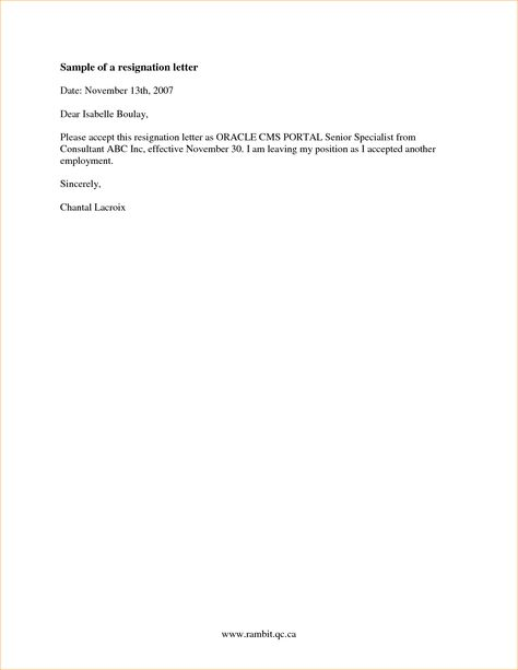 letters of resignation 2 weeks notice - Google Search JODY - new resignation letter format for a teacher