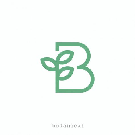 Letter B For Botanical Or Bio Logo Design