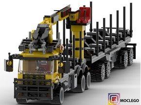 Log Truck With Trailer Lego Cars Lego Truck Lego