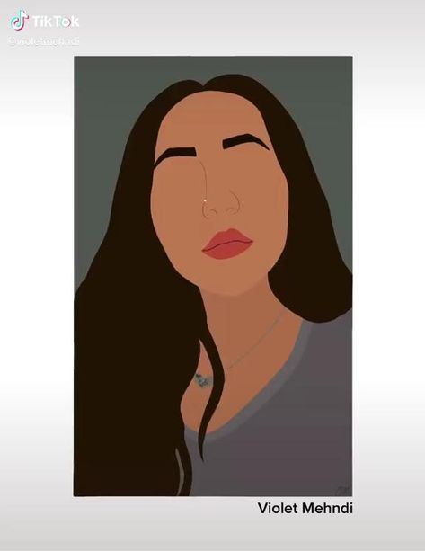 Custom Digital Portrait, Procreate Portrait by Violet Mehndi. To purchase a custom portrait click the link to view our Etsy Shop!