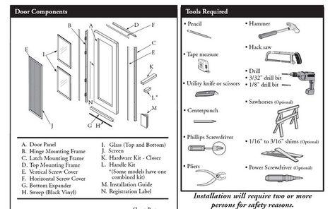 Pella Storm Door Handle Kit Instructions Door Designs Plans