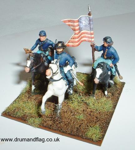 15mm Mini Figs American Civil war American Indian Cavalry