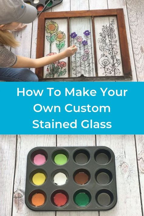 How to make Stained Glass Art from Old Window