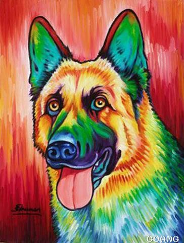 Rainbow Dogs Animal Art Dog Paintings Animal Paintings