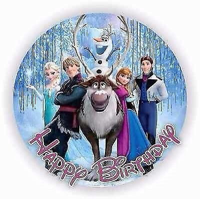 Disney Frozen - Edible Birthday Cake Topper - Round