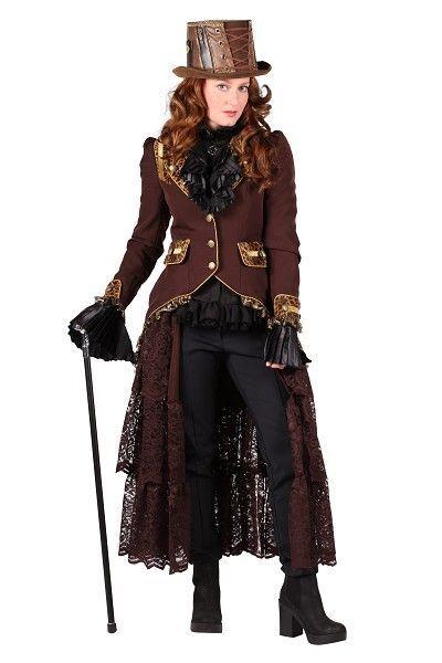 Steampunk jas dames Panther is geweldig in combinatie met