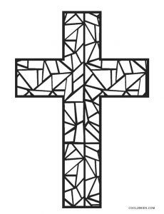 Cross Coloring Pages Cross Coloring Page Jesus Coloring Pages