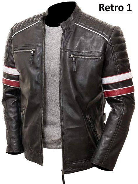 XQS Mens Long Sleeve Lapel Blazer Zipper Motorcycle Pu Faux Leather Jacket