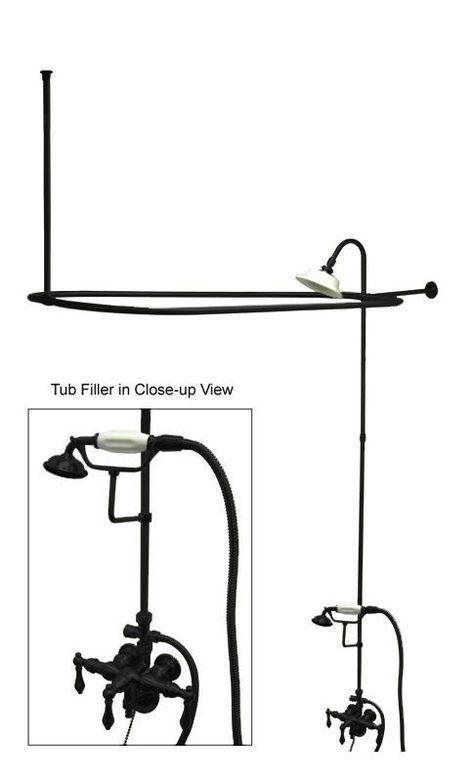 Kingston Brass Cck314 Al Tub Shower Kits Clawfoot Tub Shower