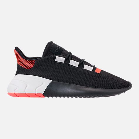 competitive price 4537d 8f335 Right view of Men s adidas Tubular Dusk Casual Shoes in Core Black Solar  Red Footwear White