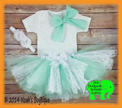 017bed6f2 Baby Girl First Birthday Outfit - Mint Pink Gold White Lace Tutu ...
