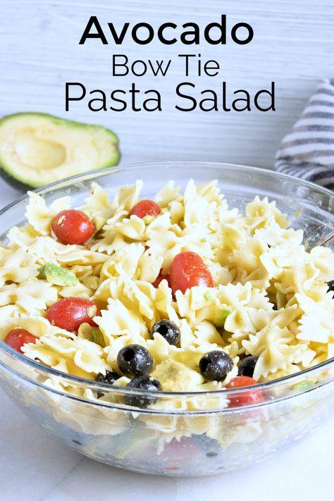 Avocado Bow Tie Pasta Salad Recipe
