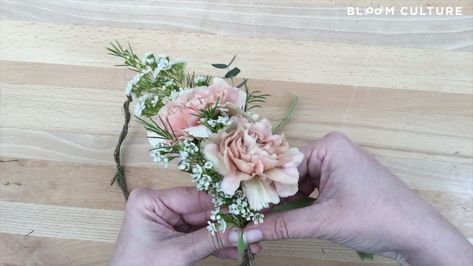 Who doesn't love a pretty DIY flower crown? ⠀⠀⠀⠀⠀⠀⠀⠀⠀ One piece of advice we will share though? This ain't Coachella, so if you're thinking about a floral crown filled with big flowers like roses and peonies for your wedding, we highly recommend a test run at the same time as your hair trial. A) they can be quite heavy to wear, and B) an oversized crown can feel like it's wearing you if you're not careful. You just want to make sure that you LOVE it and Bloom Culture's got your back!