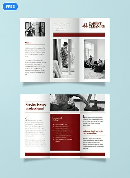 Free Carpet Cleaning Brochure Template Brochure Design Template Pamphlet Design Corporate Brochure Design