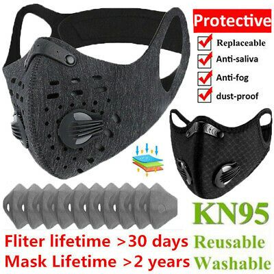 Ad Ebay Reusable Washable Face Mask With Activated Carbon Filter Nose Mouth Protection Activated Carbon Filter Activated Carbon Carbon Filter