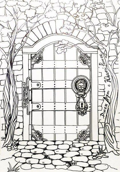 Door Coloring Sheet Collection Of Free Dorr Clipart Coloring