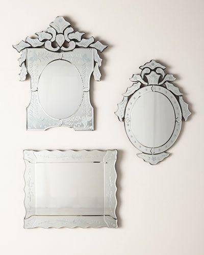 Hbb07 Mini Ornate Rectangular Venetian Mirror Venetian Mirrors Venetian Wall Mirror Mirror
