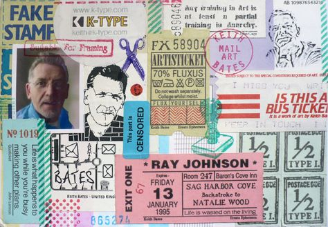 Mail artist Keith Bates from Manchester - UK    postal-art.tumblr.com