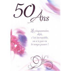 Carte D Anniversaire De 50 Ans Texte Citation Idee Cadeau