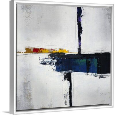 Orren Ellis Time Frame Ii Painting On Canvas Format White Floater Frame Size 21 7 H X 21 7 W X 1 75 D In 2020 Painting Canvas Art
