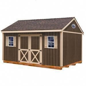 Best Barns Brookfield 16 Ft X 12 Ft Wood Storage Shed Kit With Floor Including 4x4 Runners Brookfi Diy Storage Shed Plans Wood Shed Plans Pallet Shed Plans