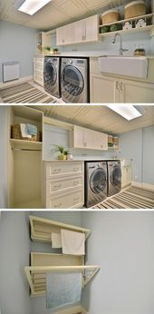20+ Functional Basement Laundry Room Ideas - Home Decor,  #Basement #basementLau...#basement #basementlau #decor #functional #home #ideas #laundry #room