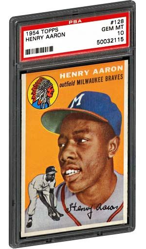 Pin By Psa Collector On Vintage Baseball Cards Hank Aaron