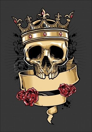 vector skull wearing a crown Stock Photo - 18727083