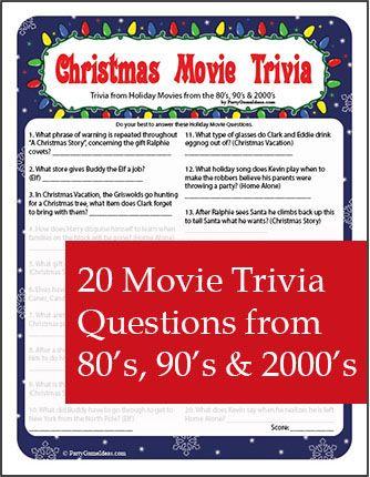 Christmas Movie Trivia Printable Game Christmas Movie Trivia Christmas Trivia Christmas Trivia Questions