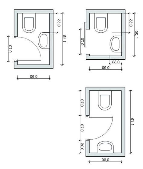 Small Half Bath Plans In 2020 Bathroom Floor Plans Small