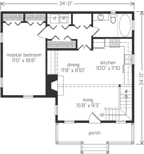 2 bedroom with loft floorplan in 2019 | Southern living ...