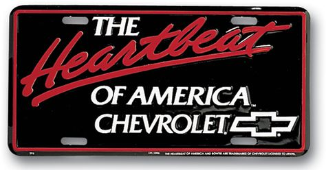 CHEVROLET USA-1 EMBOSSED NOVELTY METAL LICENSE PLATE TAG