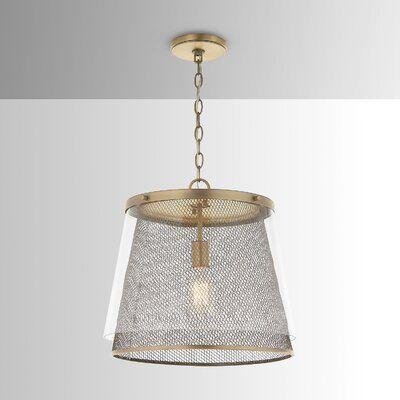 Wrought Studio Irvin 1 Light Single Cone Pendant In 2020