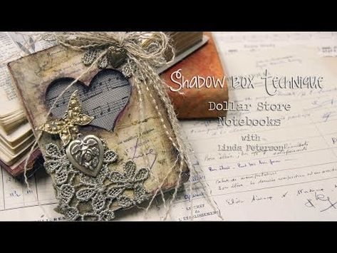 Spellbinders #MixedMedia Monday - Shadow box Notebooks! Easy Dollar Store upcycle - YouTube Channel #DIY #tutorial