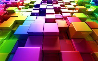 تحميل خلفيات المكعبات الملونة 4k الفن 3d المربعات الملونة الشبكة 3d مكعبات مكعبات نمط مكعبات الملمس الملونة مكعبات الملمس Besthqwallpapers Com Free 3d Wallpaper Abstract Wallpaper Colorful Wallpaper