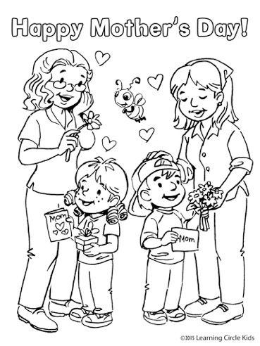 Printable Happy mother and daughter in the park coloring pages - best of coloring pages mom and daughter