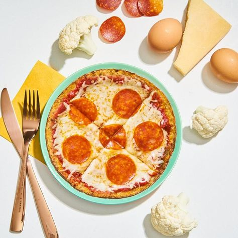 Low Carb Pepperoni Pizza Made with Outer Aisle Pizza Crusts