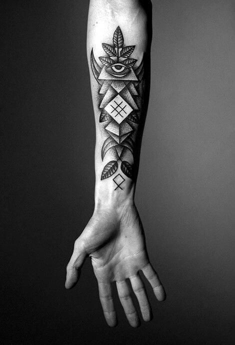 This Is An Amalgamation Of Many Different Tattoo Styles From Around The World That Is The Appeal Of Cool Forearm Tattoos Tattoos For Guys Arm Tattoos For Guys