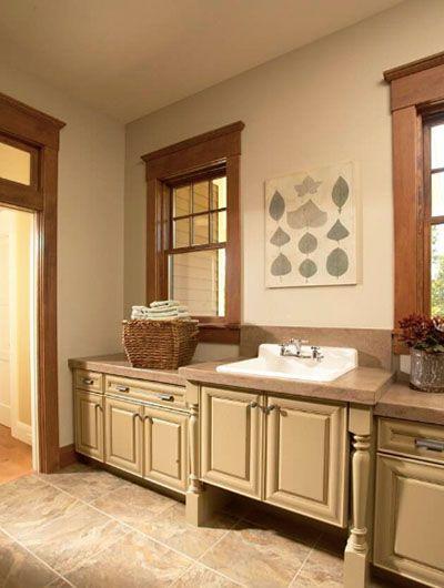 Best Laundry Room Paint Color Ideas In 2020 Natural Wood Trim Oak Wood Trim Interior Window Trim