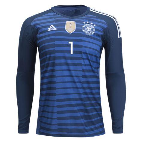 fd66fb9cae8 adidas Manuel Neuer Germany Long Sleeve Home Goalkeeper Jersey 2018 ...