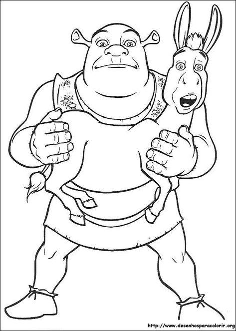 Desenhos Do Shrek Para Pintar 2 Jpg 567 794 Paginas Para