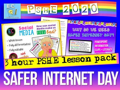 Safer Internet Day 2020 Safe Internet Pshe Lessons Elementary Computer Lessons