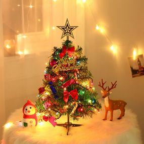 50cm Christmas Tree Pack With Lamp 50 Christmas Decoration Desktop Mini Christmas Tree Shop Mini Christmas Tree Small Christmas Trees Led Christmas Tree Lights
