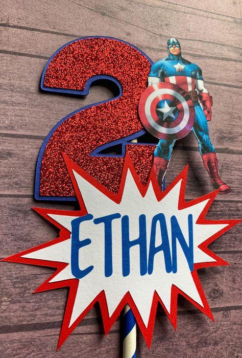 Captain America Centerpiece Stick   Superhero Party Decor