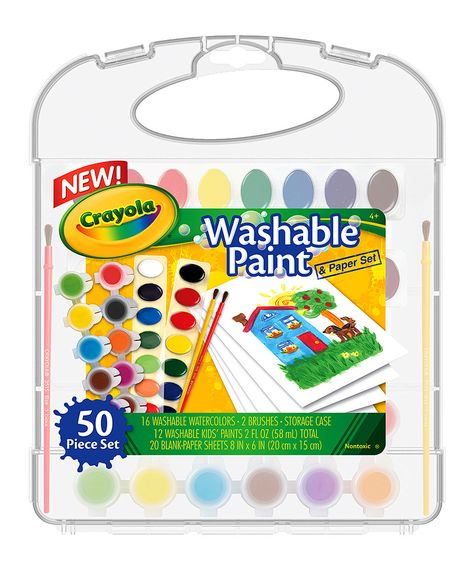 Washable Paint Paper Set By Crayola Zulily Zulilyfinds