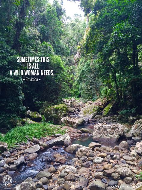 Sometimes this is all a Wild Woman needs... - Shikoba - Photo Credit: Shikoba - Springbrook National Park, Northern Rivers, Australia WILD WOMAN SISTERHOOD™ #WildWomanSisterhood