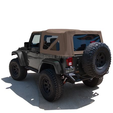 Sierra Offroad 2010 2018 Jeep Wrangler 2 Dr Jk Soft Top Saddle