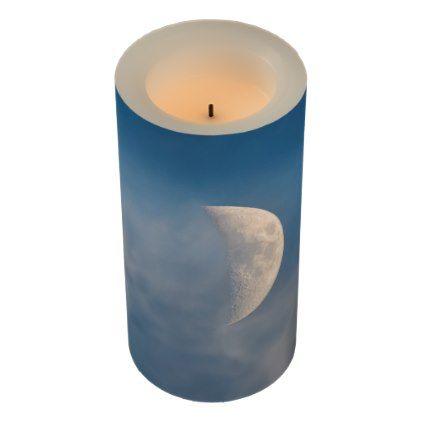 Blue Moon soy wax pillar candle
